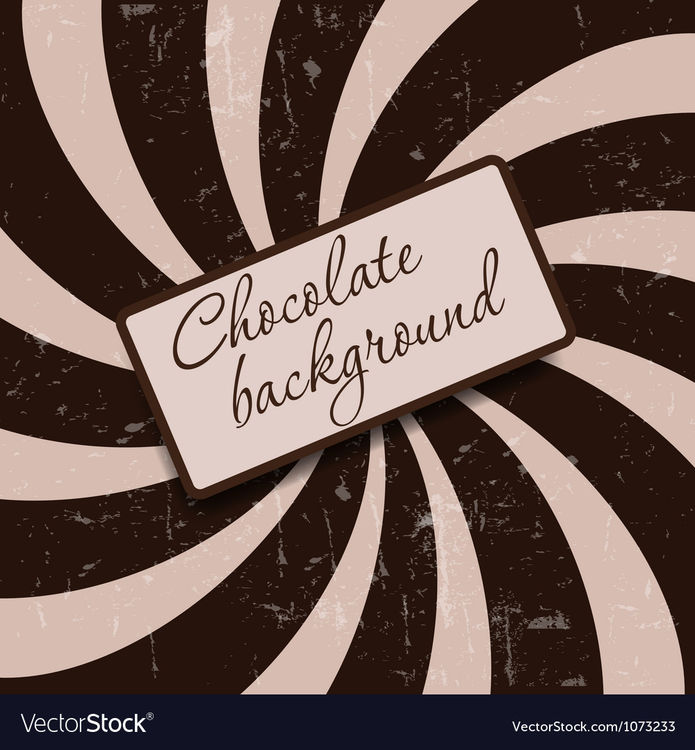 Retro vintage grunge hypnotic chocolate background vector | Price: 1 Credit (USD $1)