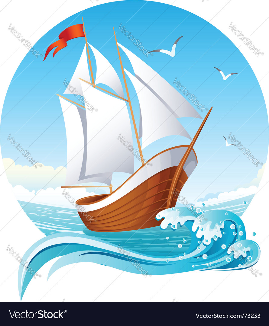Sailing ship vector | Price: 3 Credit (USD $3)