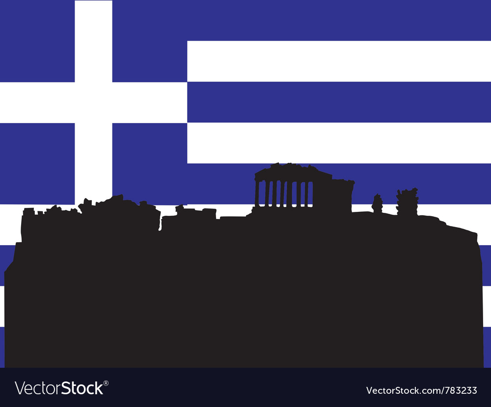 Silhouette of athens vector   Price: 1 Credit (USD $1)