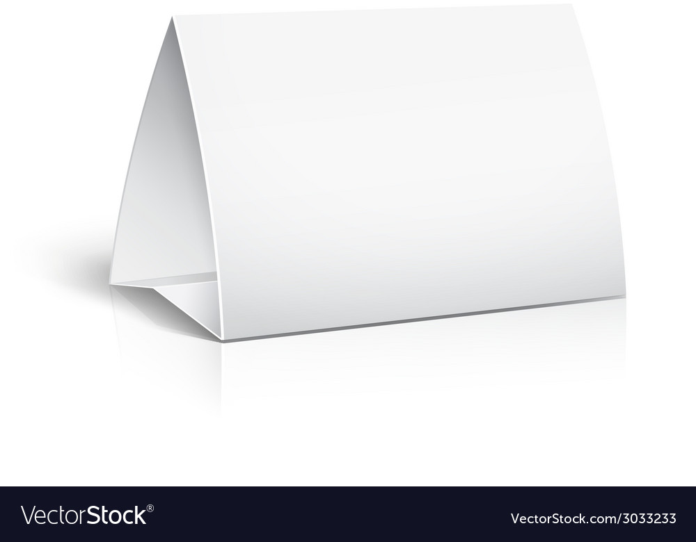 Table paper card vector
