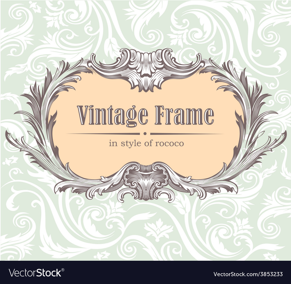Vintage decorative frame vector | Price: 1 Credit (USD $1)