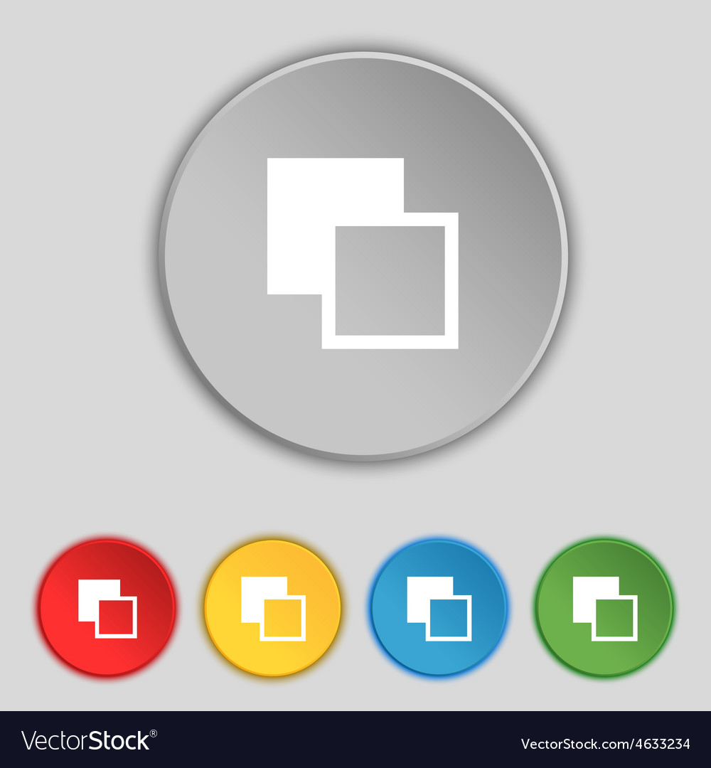 Active color toolbar icon sign symbol on five flat vector | Price: 1 Credit (USD $1)