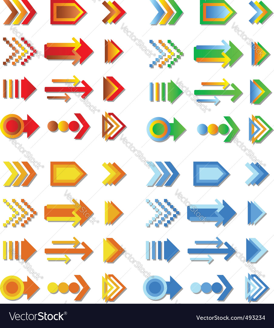 Arrow collection vector | Price: 1 Credit (USD $1)