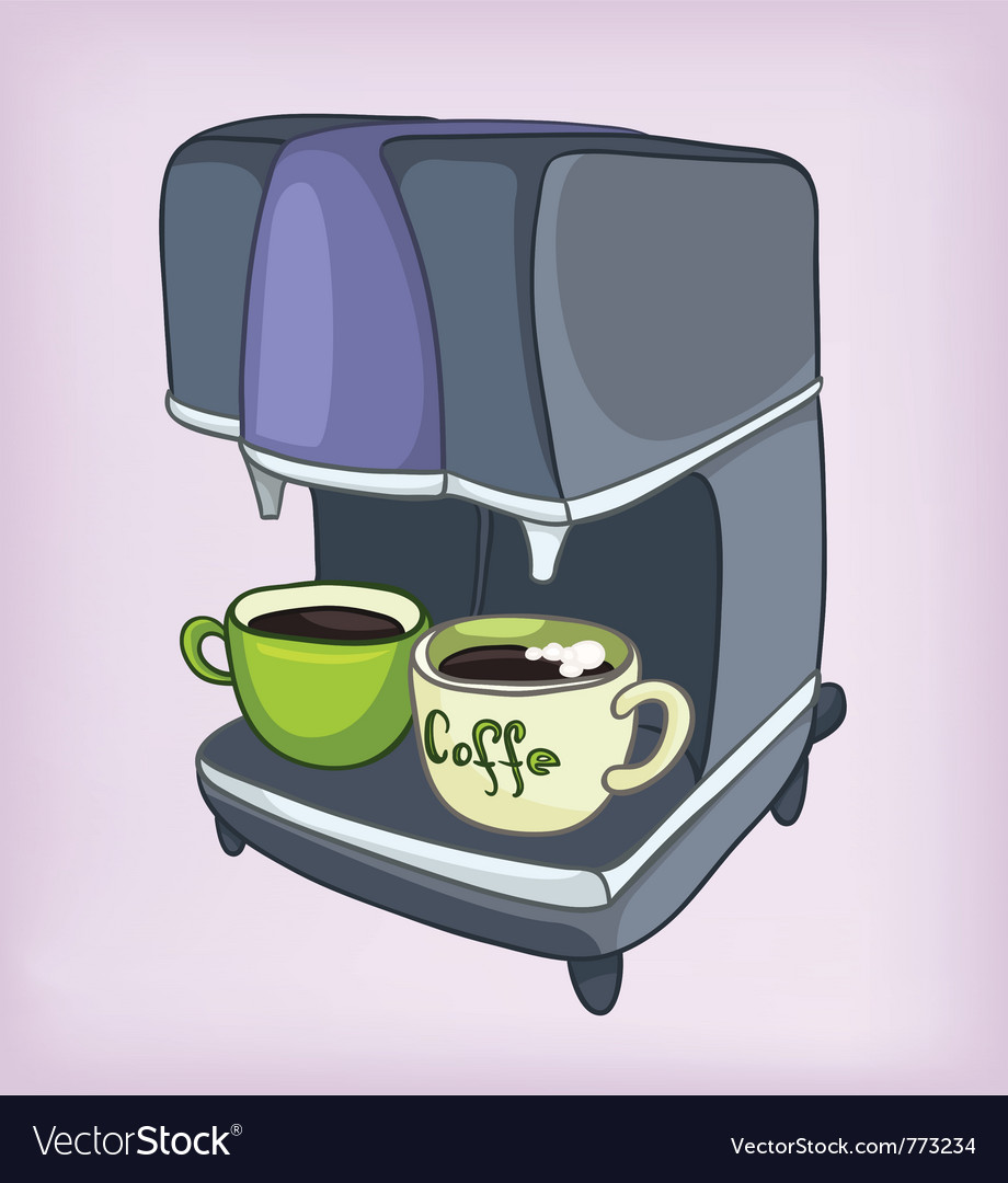Cartoons coffee maker vector | Price: 1 Credit (USD $1)