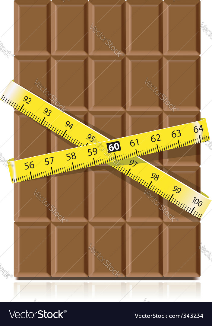 Chocolate with measure tape vector | Price: 1 Credit (USD $1)