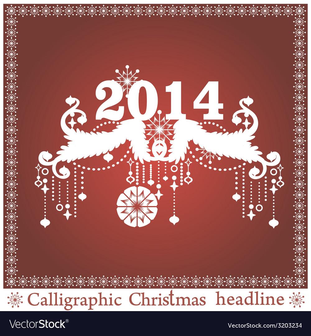 Christmas headlines vector | Price: 1 Credit (USD $1)