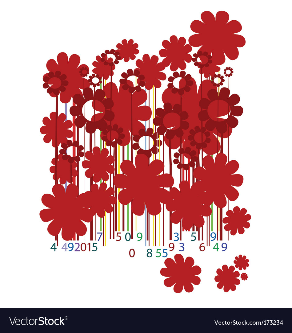 Floral bar code vector | Price: 1 Credit (USD $1)