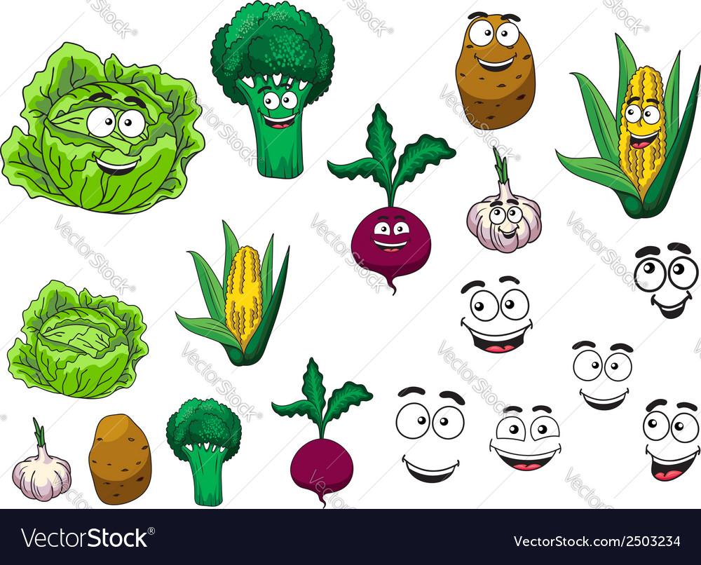 Fresh grocery vegetables set vector | Price: 1 Credit (USD $1)