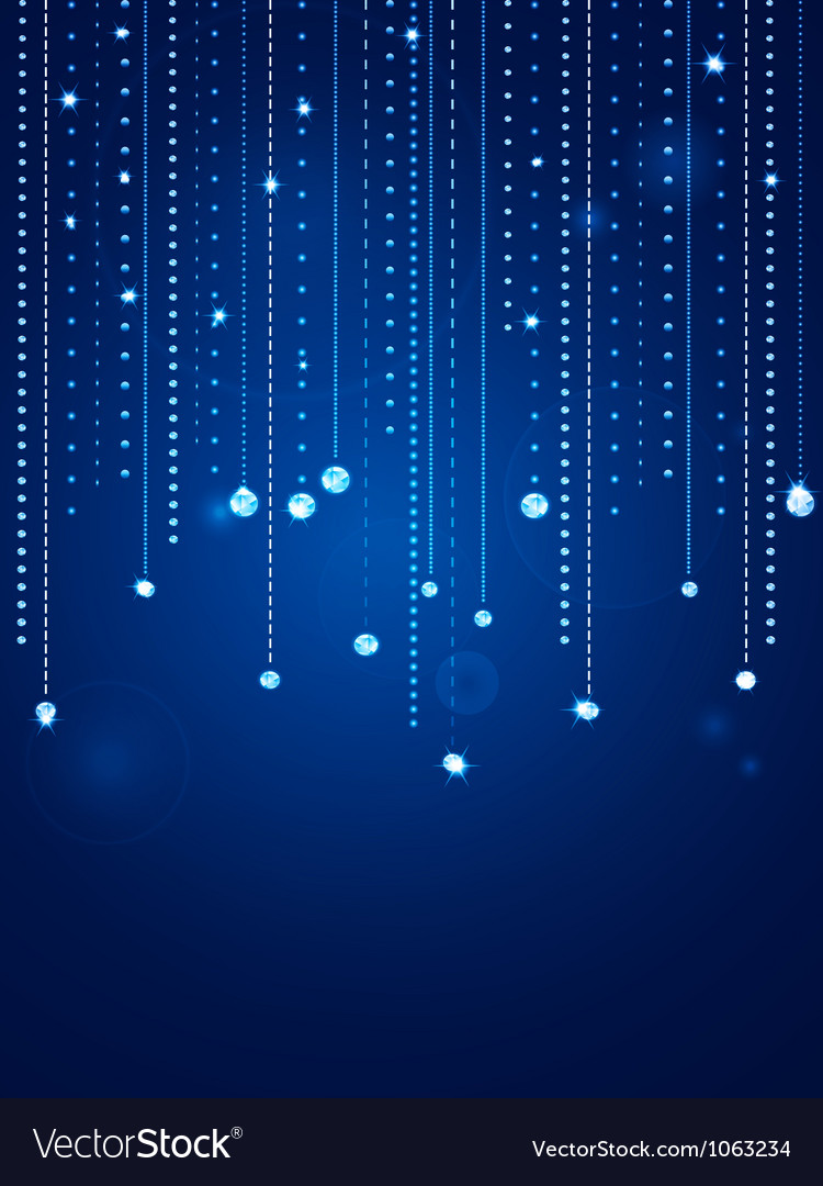 Glowing blue diamond background vector | Price: 1 Credit (USD $1)