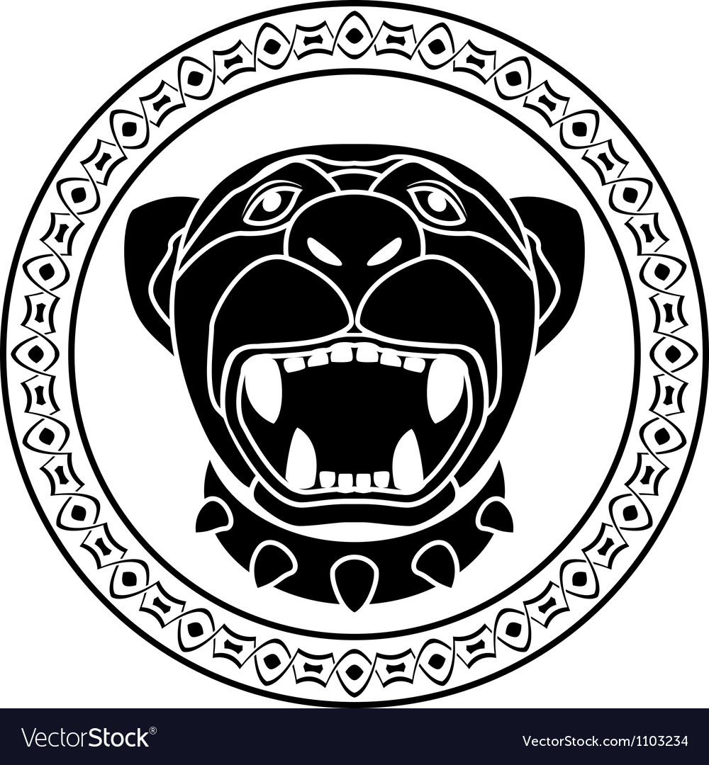 Panther of aztec stencil second variant vector | Price: 1 Credit (USD $1)