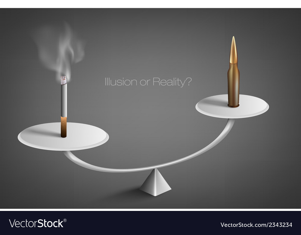 Smoldering cigarette with a smoke vector | Price: 1 Credit (USD $1)