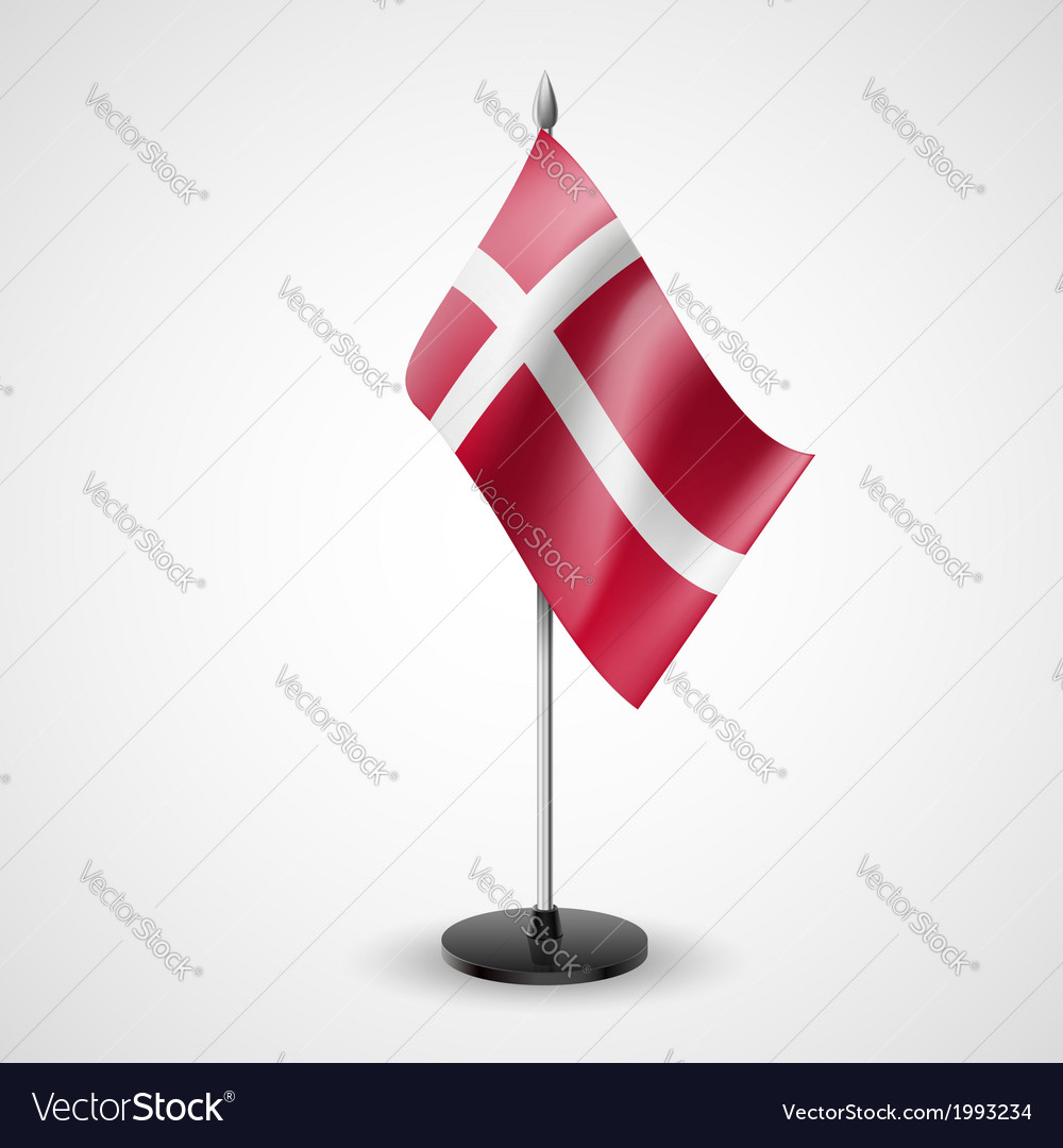 Table flag of denmark vector | Price: 1 Credit (USD $1)