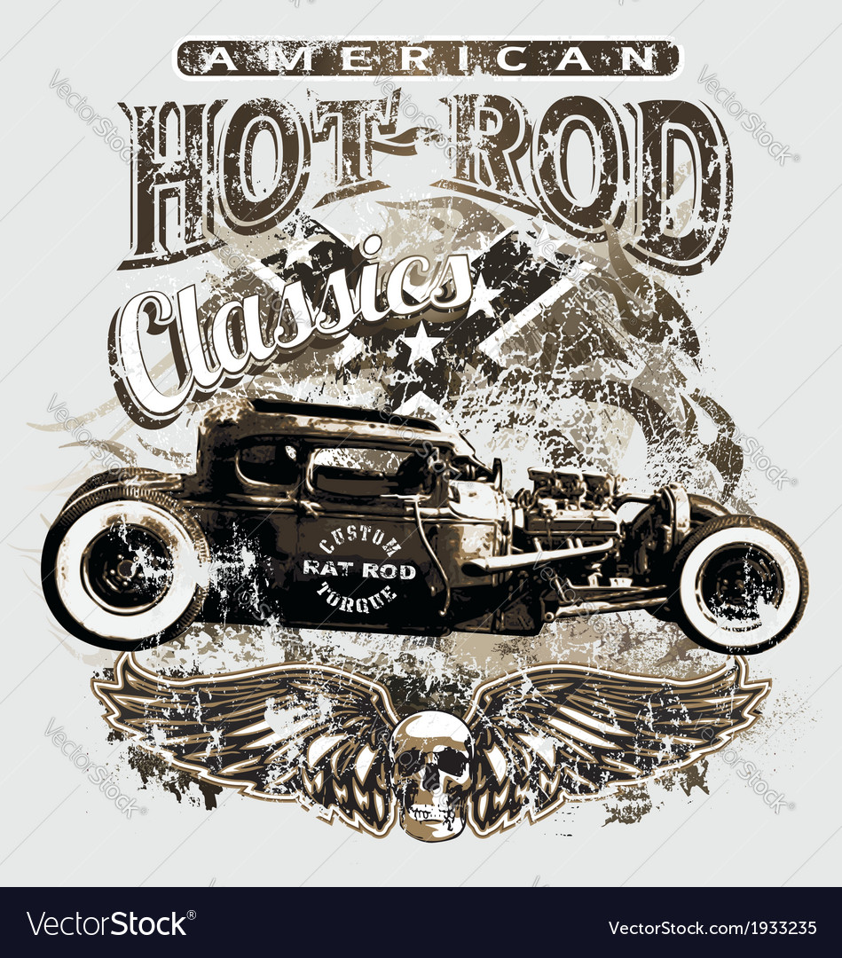 American custom rod classic vector | Price: 3 Credit (USD $3)