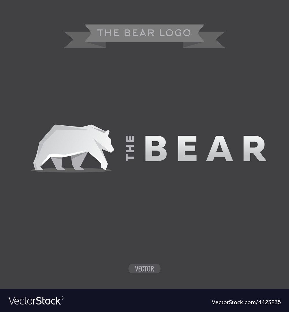 The bear logo flat vector | Price: 1 Credit (USD $1)