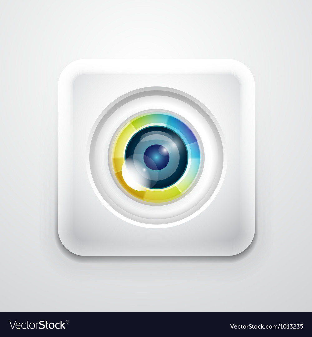 Camera application icon vector | Price: 1 Credit (USD $1)