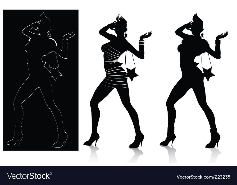 Fashion silhouette set vector | Price: 1 Credit (USD $1)