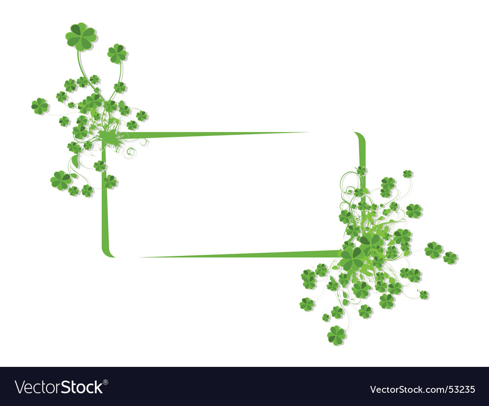 Floral banner with clover leaves vector | Price: 1 Credit (USD $1)