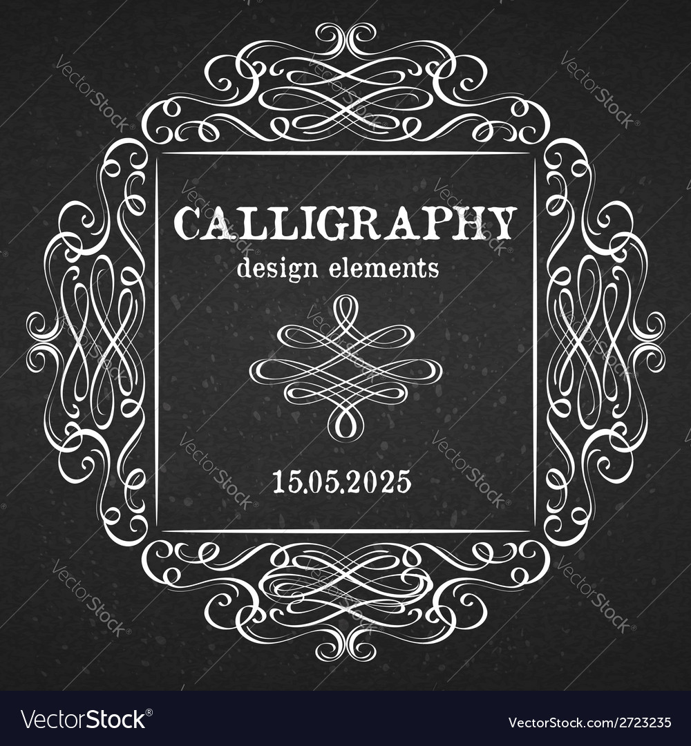 Page decoration calligraphic design elements vector | Price: 1 Credit (USD $1)