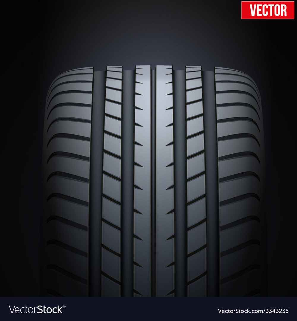Realistic rubber tires banner vector | Price: 1 Credit (USD $1)