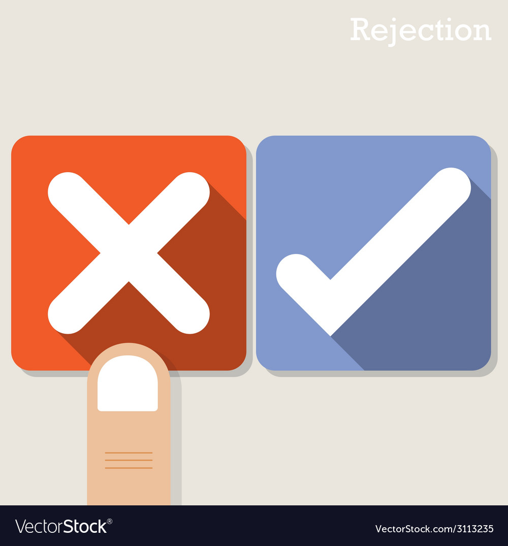 Rejection concept vector | Price: 1 Credit (USD $1)