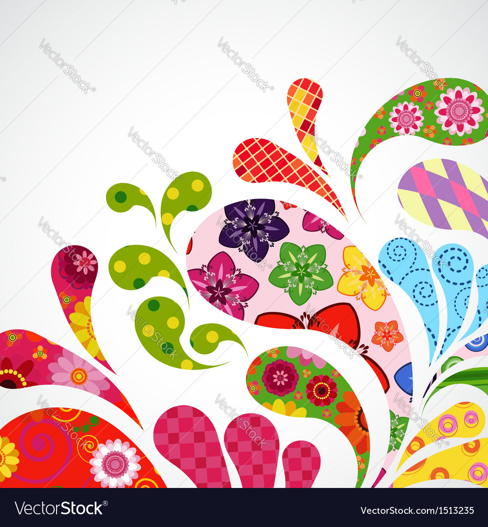 Splash of floral vector | Price: 1 Credit (USD $1)