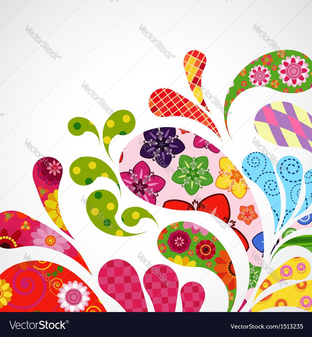Splash of floral vector | Price: 1 Credit (USD $1)