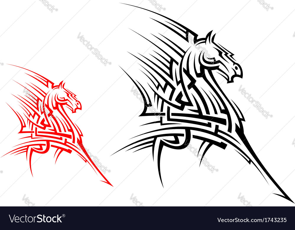 Tribal horse mascot vector | Price: 1 Credit (USD $1)