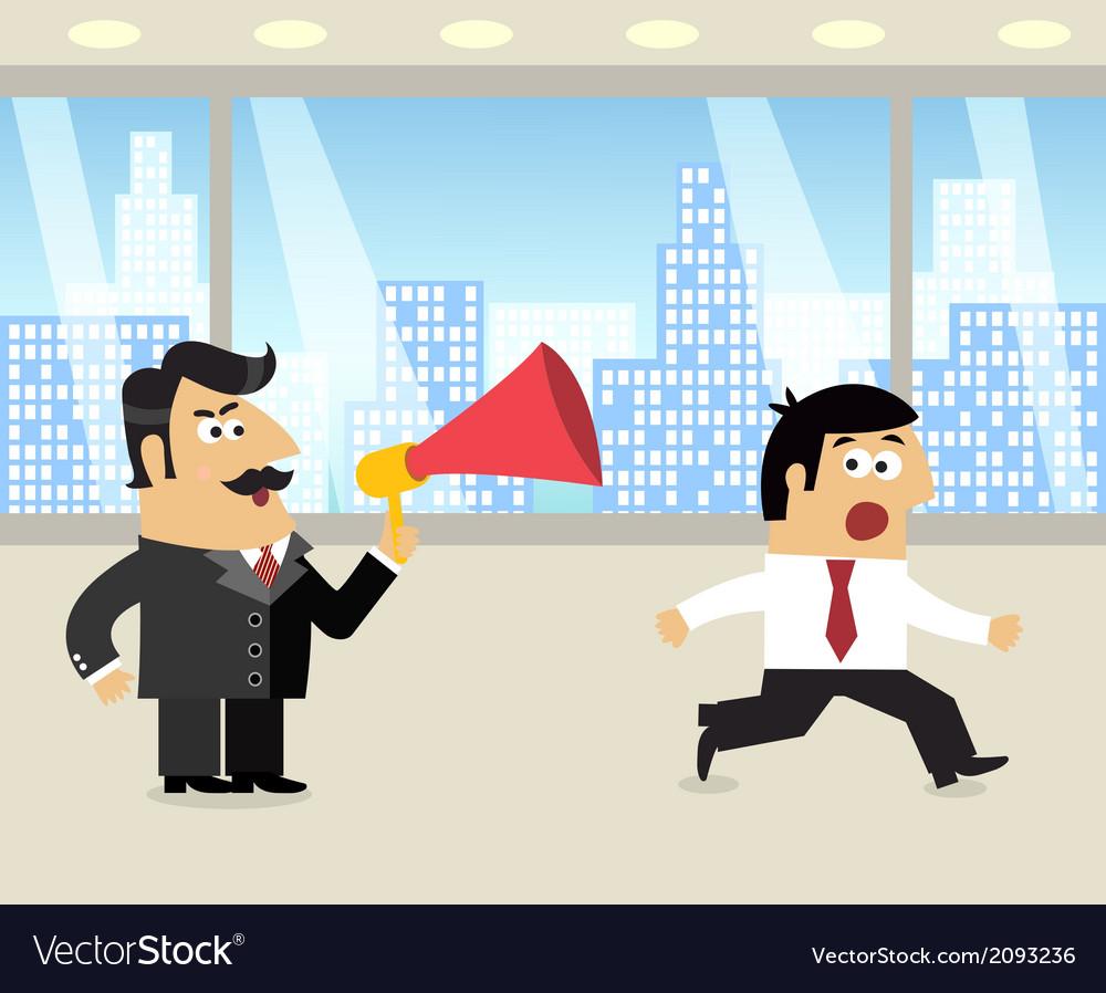 Boss and employee scene vector | Price: 1 Credit (USD $1)