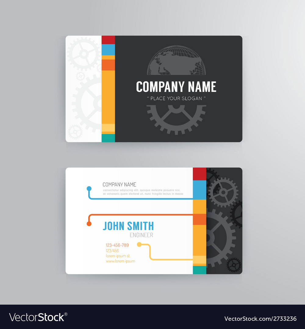 Business card template modern abstract concept vector | Price: 1 Credit (USD $1)