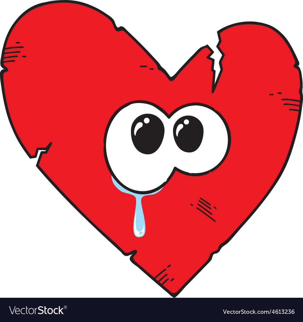 Cartoon broken heart vector   Price: 1 Credit (USD $1)
