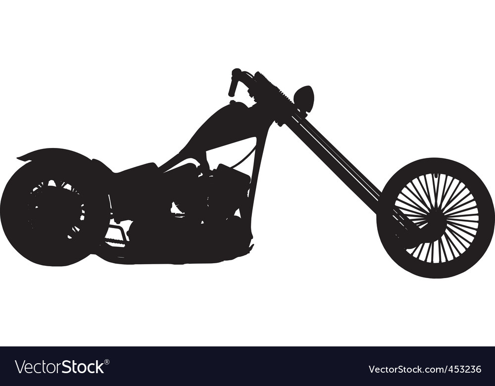 Chopper motorbike vector | Price: 1 Credit (USD $1)