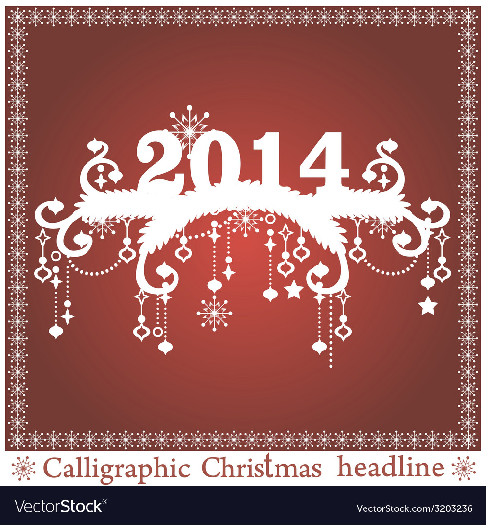 Christmas headlines vector | Price: 1 Credit (USD $1)