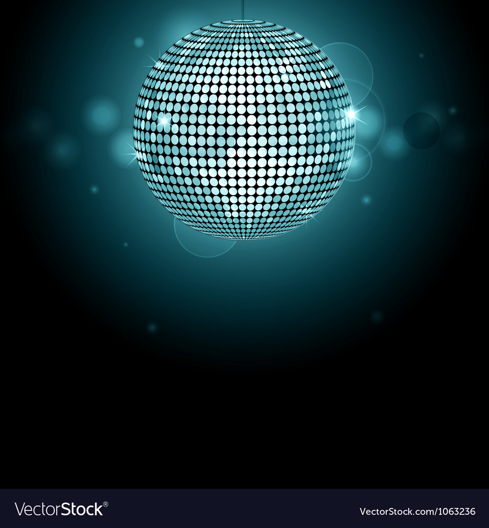 Disco ball background glowing vector | Price: 1 Credit (USD $1)