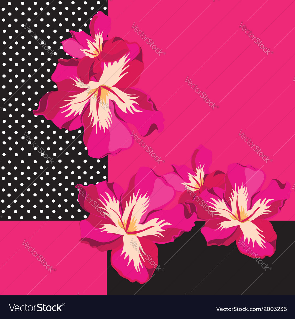 Floral pattern with beautiful flowers hand-drawing vector | Price: 1 Credit (USD $1)