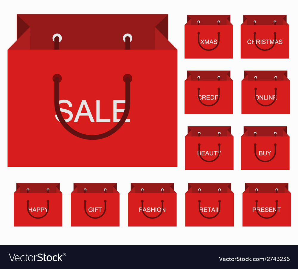 Modern shopping icons set vector | Price: 1 Credit (USD $1)