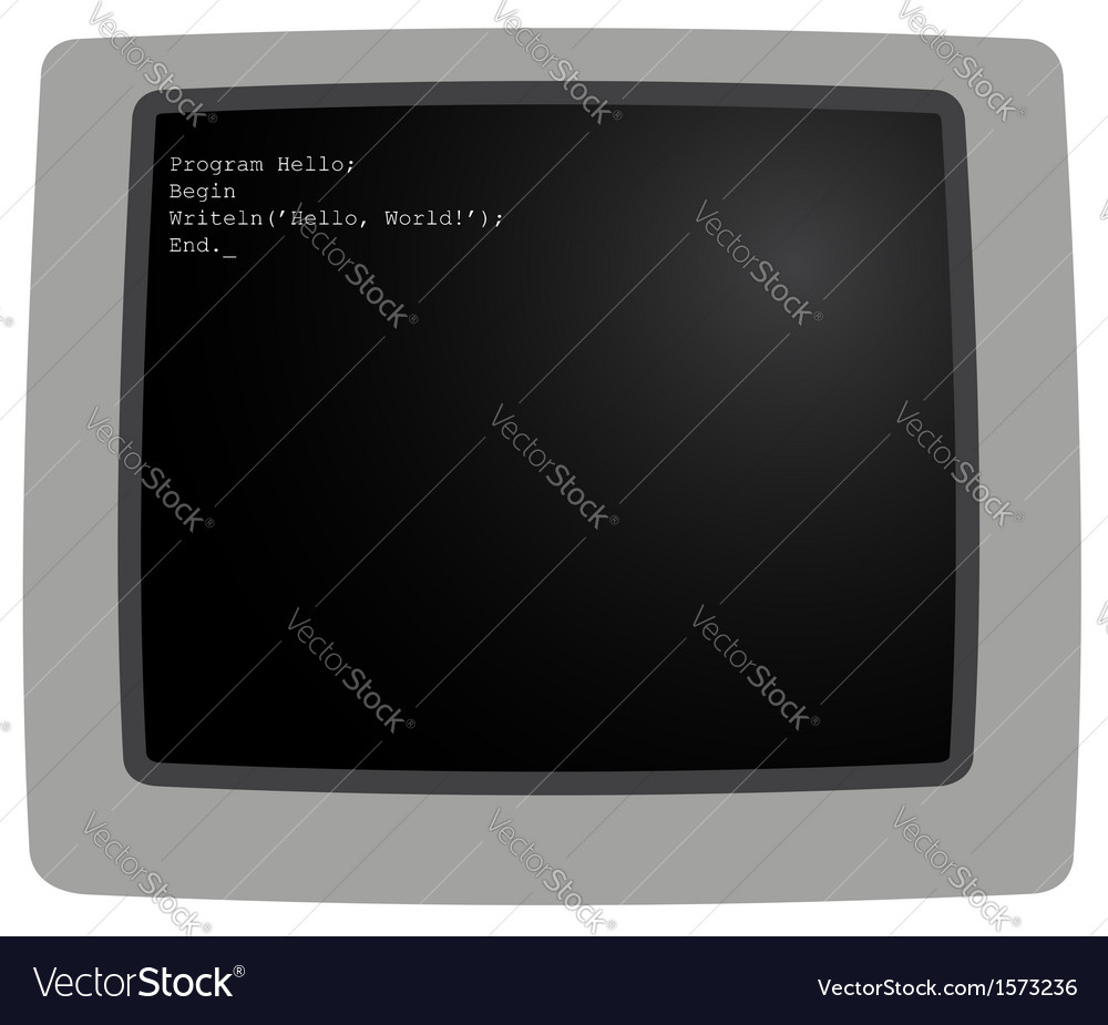 The monitor 1 vector | Price: 1 Credit (USD $1)