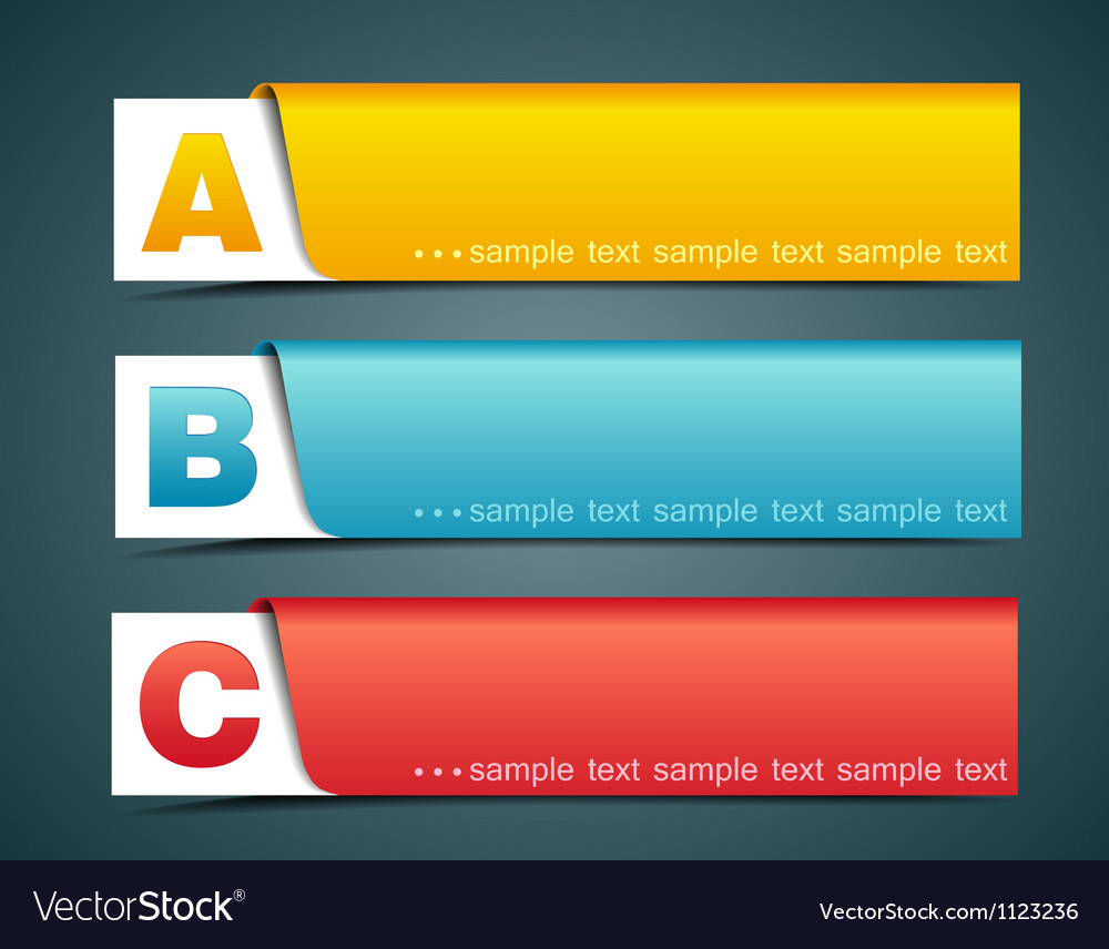 Options banner vector | Price: 1 Credit (USD $1)