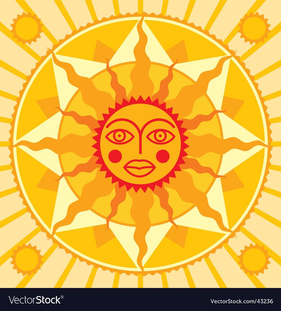 Orange sun vector | Price: 1 Credit (USD $1)