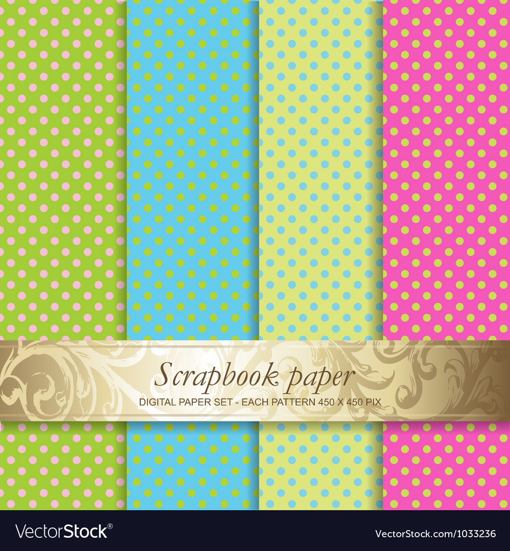 Polka dots scrapbook paper vector | Price: 1 Credit (USD $1)