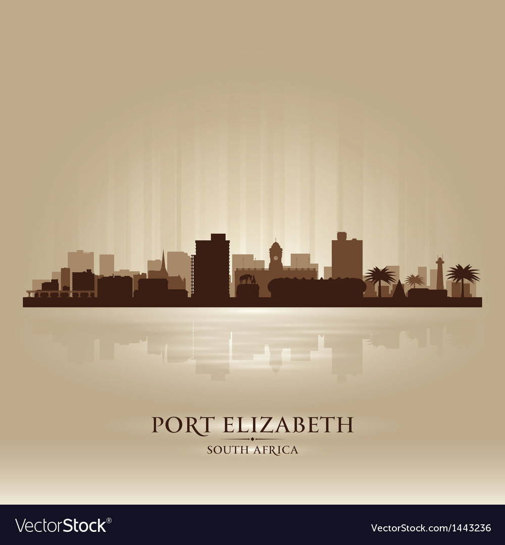 Port elizabeth south africa city skyline silhouet vector | Price: 1 Credit (USD $1)