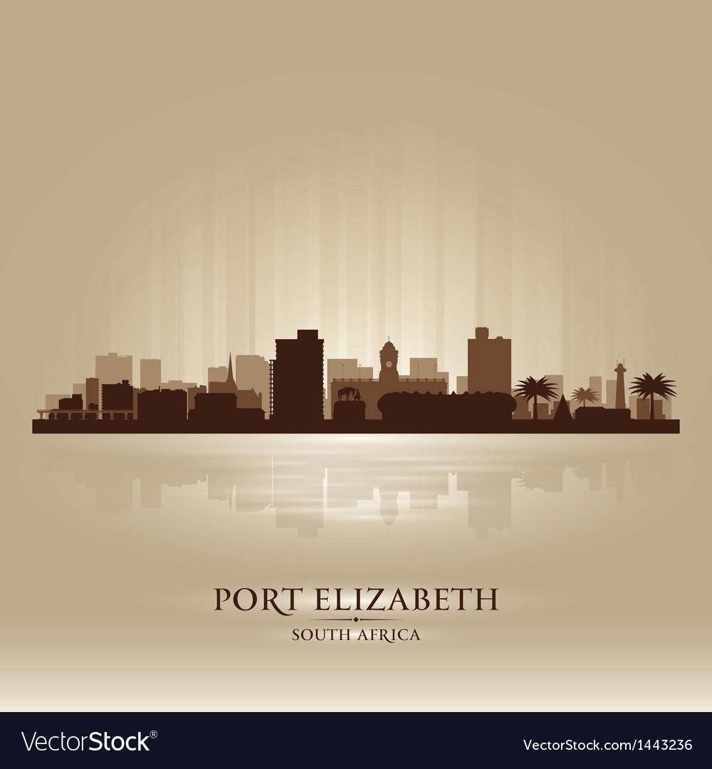 Port elizabeth south africa city skyline silhouet vector | Price: 1 Credit (USD $1)