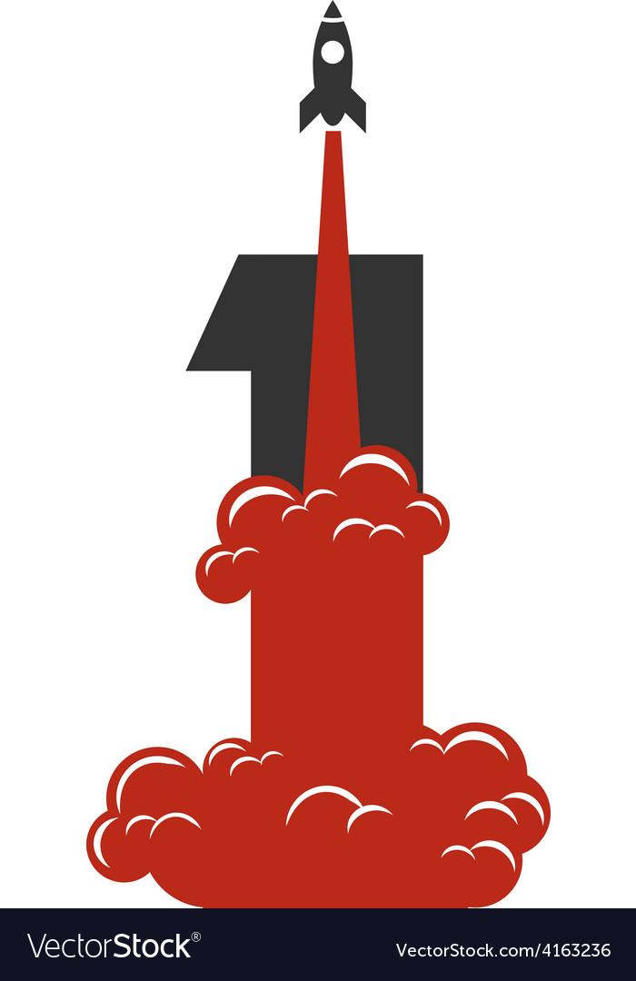 Rocket launch icon vector | Price: 1 Credit (USD $1)