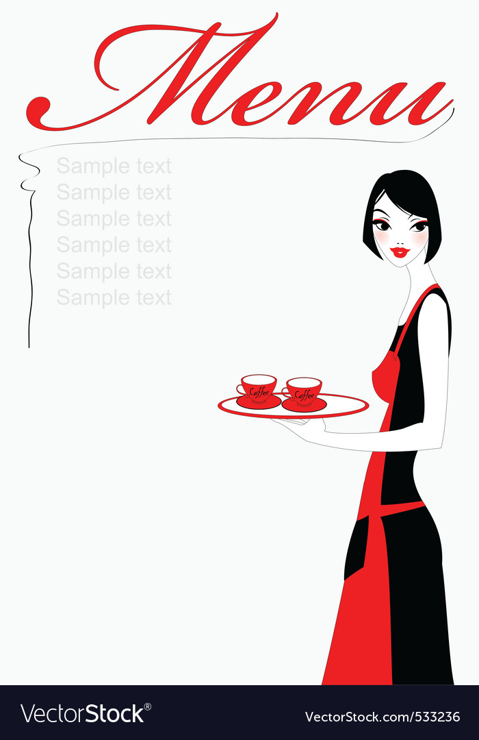 Waitress vector | Price: 1 Credit (USD $1)