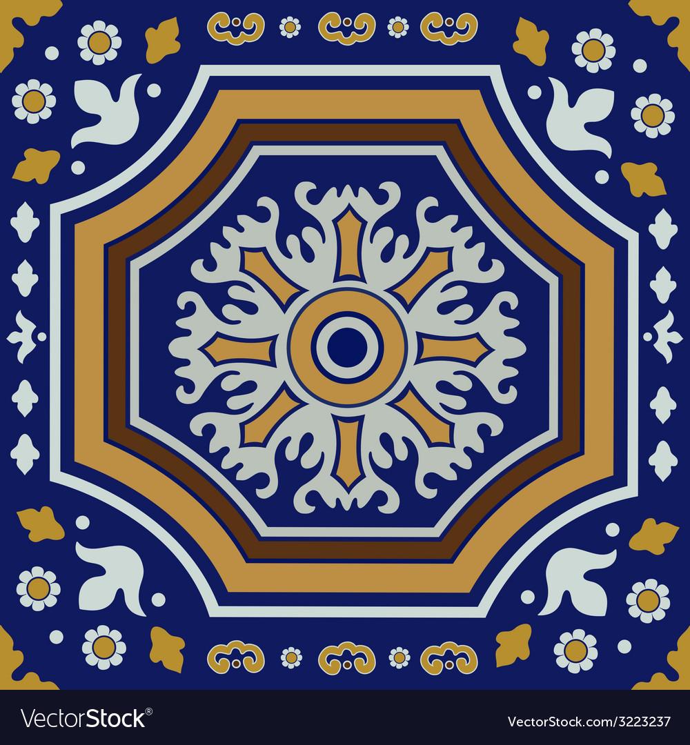 Ceramic tile ornament vector   Price: 1 Credit (USD $1)