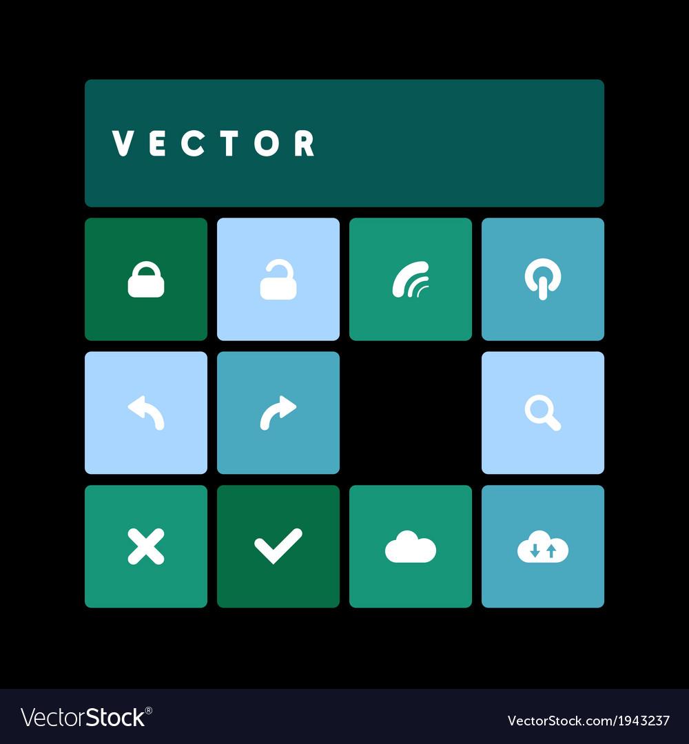 Design flat dark green vector | Price: 1 Credit (USD $1)