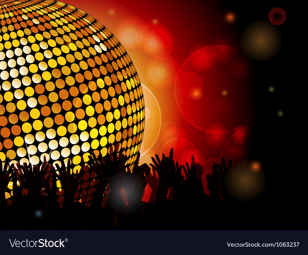 Disco ball and crowd vector | Price: 1 Credit (USD $1)