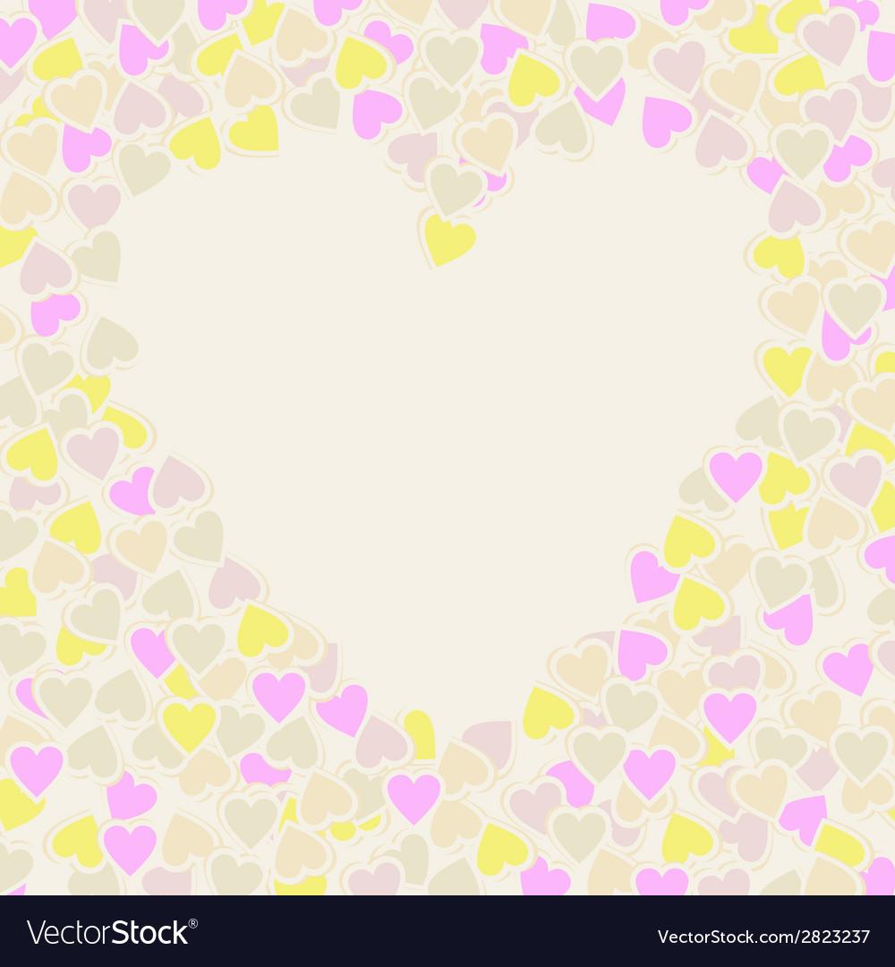 Happy valentines day card vector | Price: 1 Credit (USD $1)