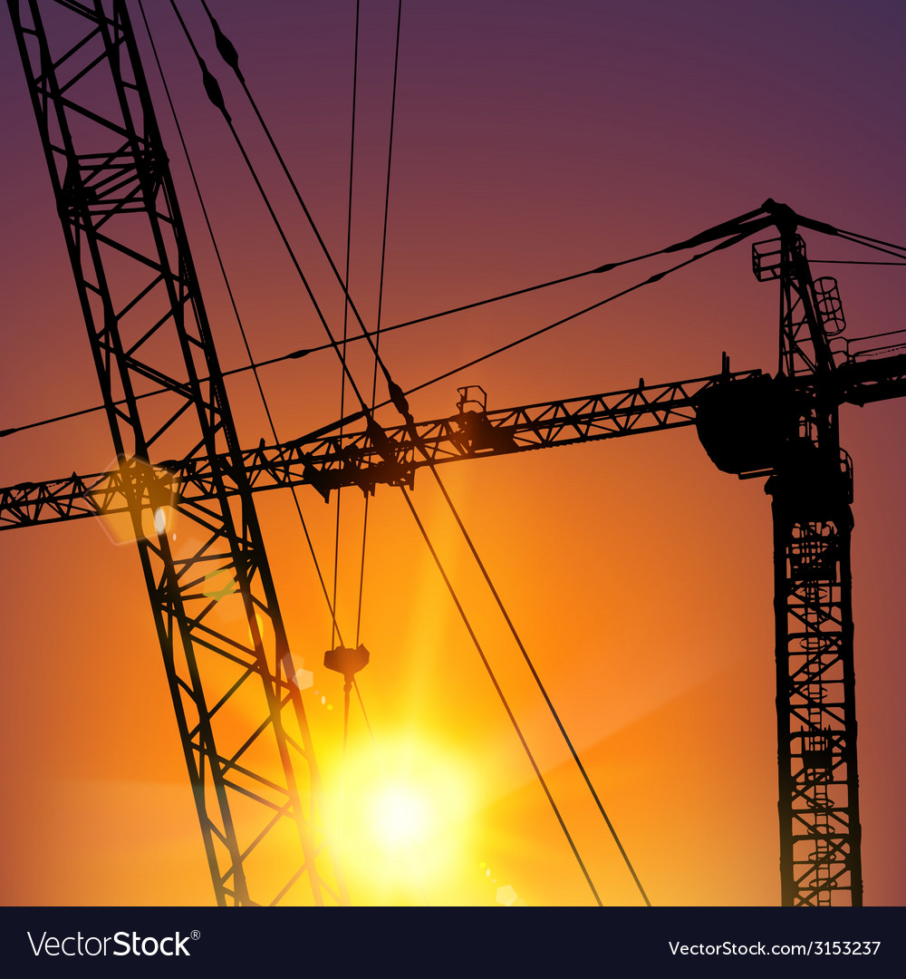 Highrise tower crane vector | Price: 1 Credit (USD $1)