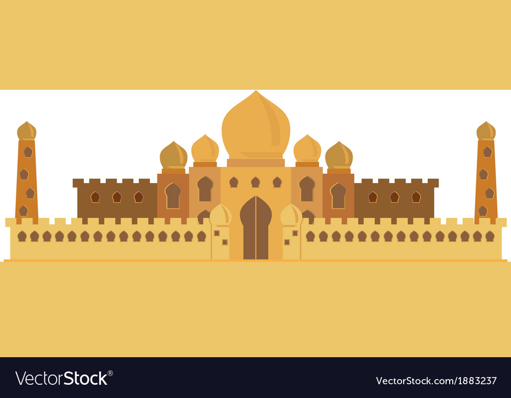 Indian castle vector | Price: 1 Credit (USD $1)