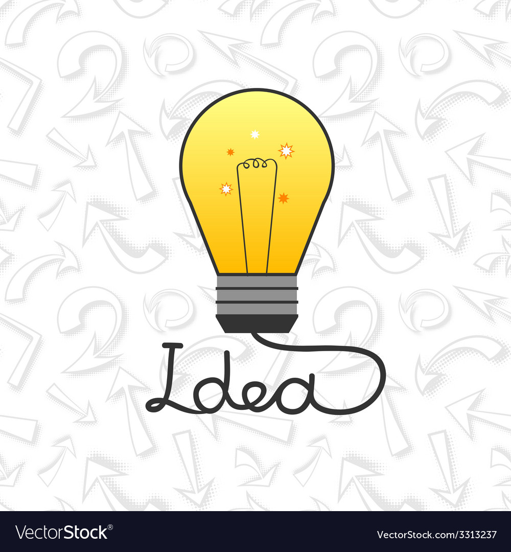 Light bulb in flat style element ideas vector | Price: 1 Credit (USD $1)